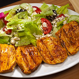 Image of CHICKEN BREAST ON GREEK SALAD