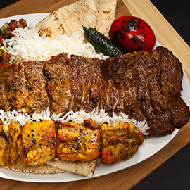 Image of CHELO KABOB BARG and CHICKEN KABOB